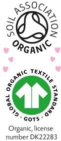 Frugi zertifiziert von der Soil Association als auch vom Global Organic Textile Standard (GOTS)