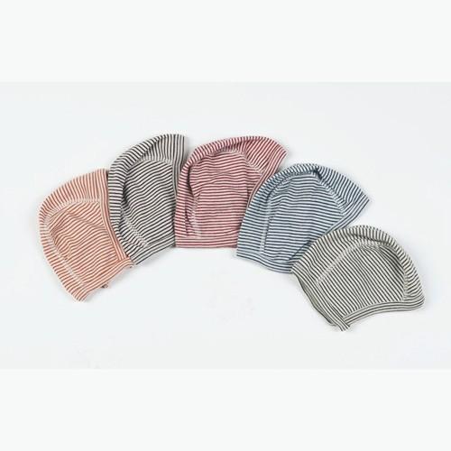 Lilano Erstlingsmütze aus Wolle/Seide, verschiedene Farben geringelt
