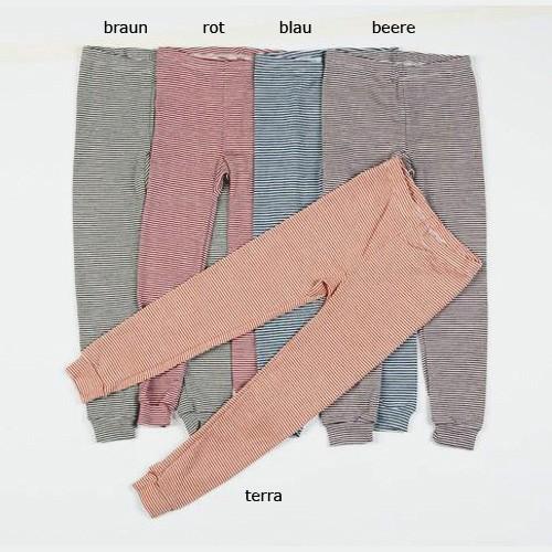 Lilano lange Ringel-Unterhose, Wolle-Seide