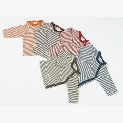 Lilano Ringel-Shirt 1/1–Arm mit seitlicher Knopfleiste, Wolle-Seide