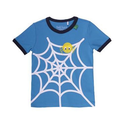 Freds World Kurzarm T-Shirt mit Spinnenprint, 100% Baumwolle, Kinder