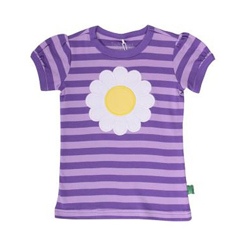 Freds World Kurzarm Mädchen T-Shirt, Margeritenapplikation, 100% Baumwolle