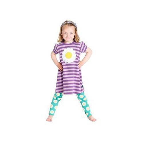 Freds World Mädchen Kleid mit Margeritenapplikation, 100% Baumwolle