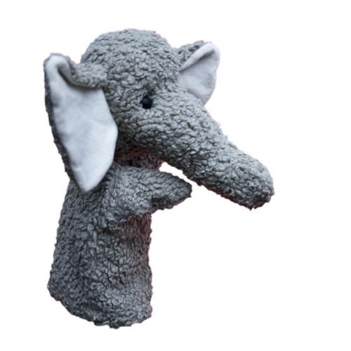 Plü natur Elefant Handspielpuppe