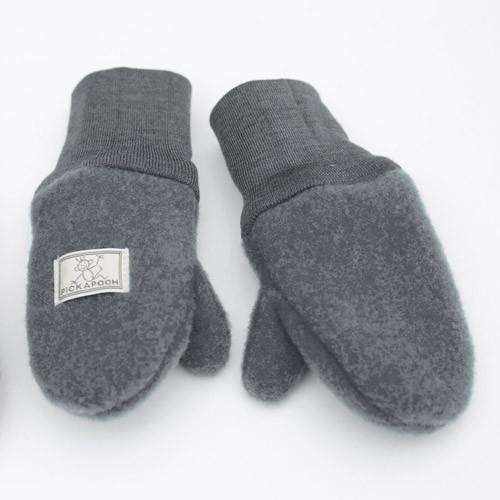 Pickapooh Fäustel Wollfleece, gray