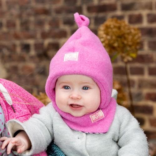 Pickapooh Mütze Paul, Wollfleece, pink