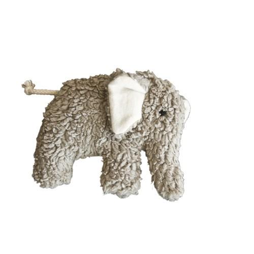 Plü Natur Spieluhr Elefant, hellgrau