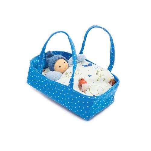 Blütenbett, blau-hellblau
