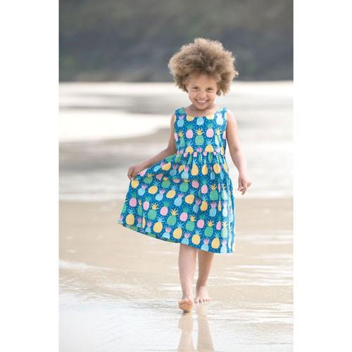 Frugi Porthcurno Party Dress, Jazzy Pineapple