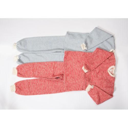Lilano Schlafanzug 2-tlg, Wollfrottee-Plüsch, ringel