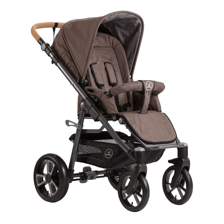 Naturkind Kinderwagen Lux, Design Walnuss
