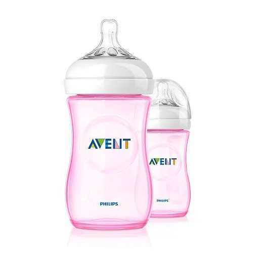 Philips Avent Naturnah-Flasche PP, rosa, 260ml, Doppelpackung