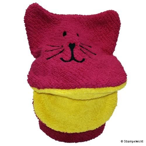 Piccalilly Waschlappen-Handpuppe, Pink mit gelben Maul
