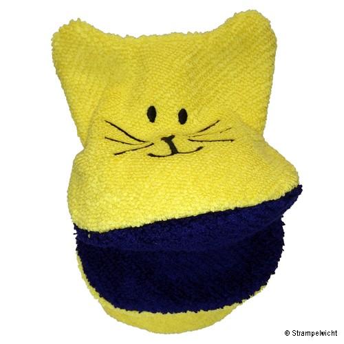 Piccalilly Waschlappen-Handpuppe, Gelb mit blauen Maul