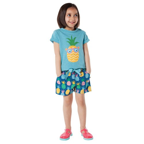 Martha Summer Shorts, Pineapple