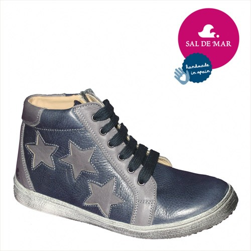 Sal de Mar Sneakies High Stars, blau-grau