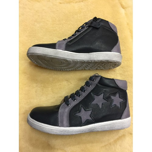 Sal de Mar Sneakies Low Stars, blau-grau