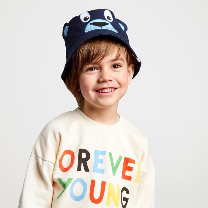 Affenzahn Kinder-Buckethead Blau Bär