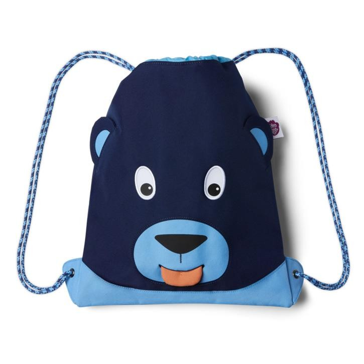 Affenzahn Kindersportbeutel Blau Bär