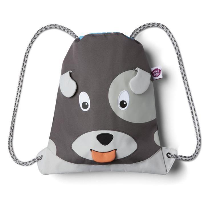 Affenzahn Kindersportbeutel Grau Hund