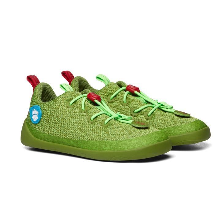 Affenzahn Minimalschuh Grün Knit - Drache