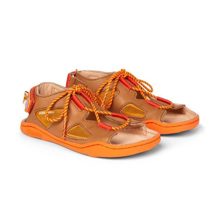 Affenzahn Sandale Leder Löwe  Braun