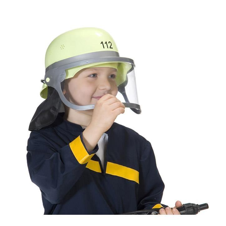 Aurich 50078 Feuerwehr-Helm mit Visier,gelb 3 für Kinder  variabel