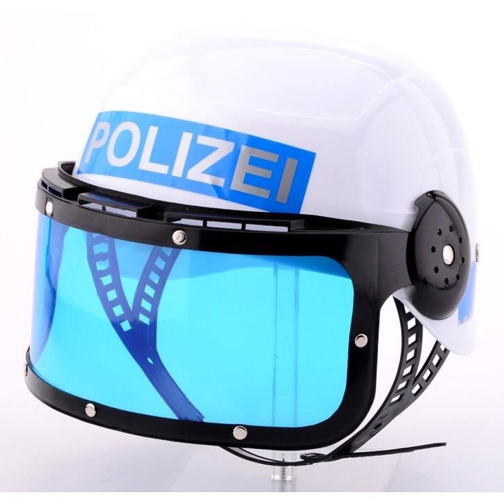 Aurich 50084 Polizei-Einsatz-Helm blau 3 mit Visier für Kinder  variabel
