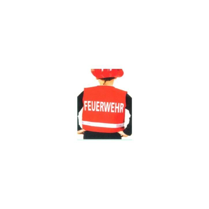 Aurich 50203 Feuerwehr-Weste,für Kinder,rot 3 Gr.116
