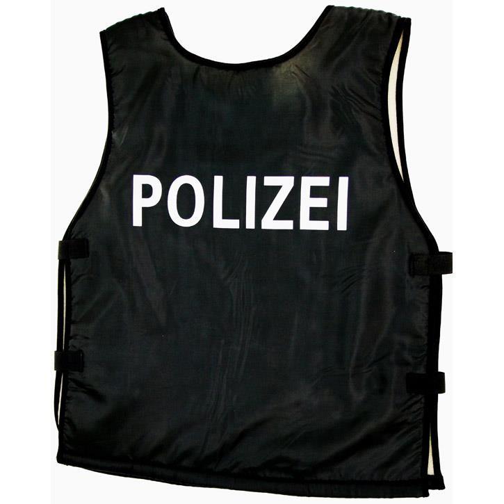 Aurich 50214 Polizei-Weste schwarz,gepolst. 3 Klettverschluss,Gr.128