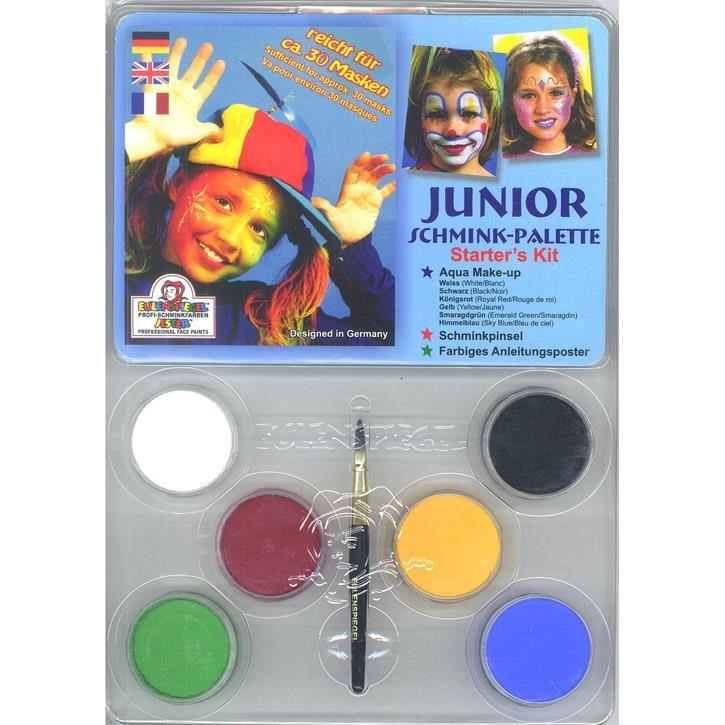 Aurich 51100 Junior-Schminkpalette,Anleit. 3 6 wasserlösliche Aquaschminken  21ml