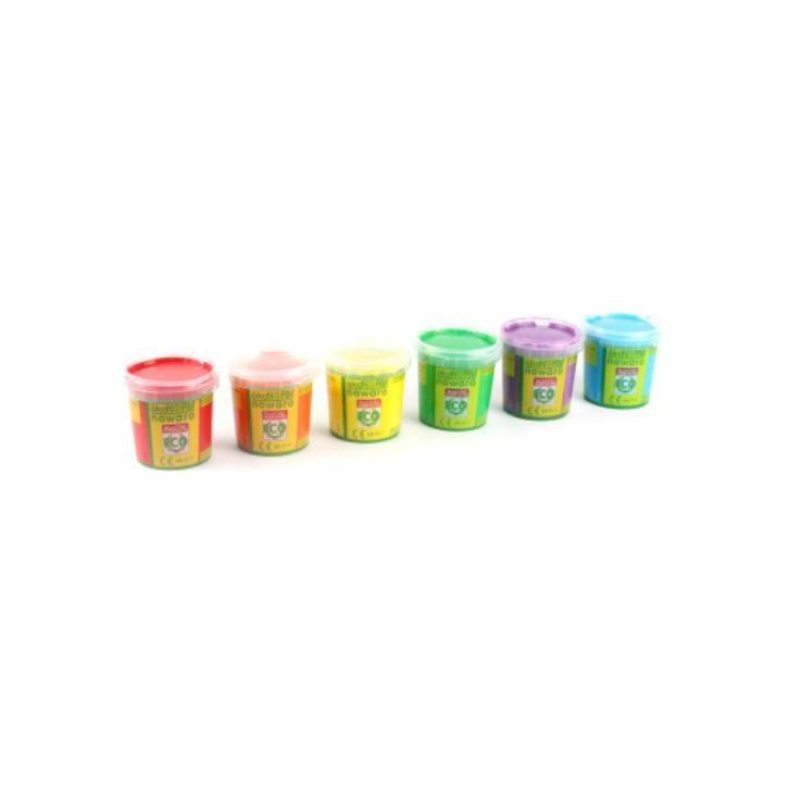 Aurich 52029 ökoNorm Einhorn-Fingerfarben 3 6St.rot,orange,gelb,grün, türkis,violett 6x150g