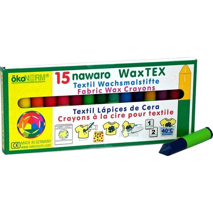 Aurich 52075 ökoNorm WAX TEX Stoffmalkreide 3 Schtl.15 Stifte f.nat.Textilie  17x6cm