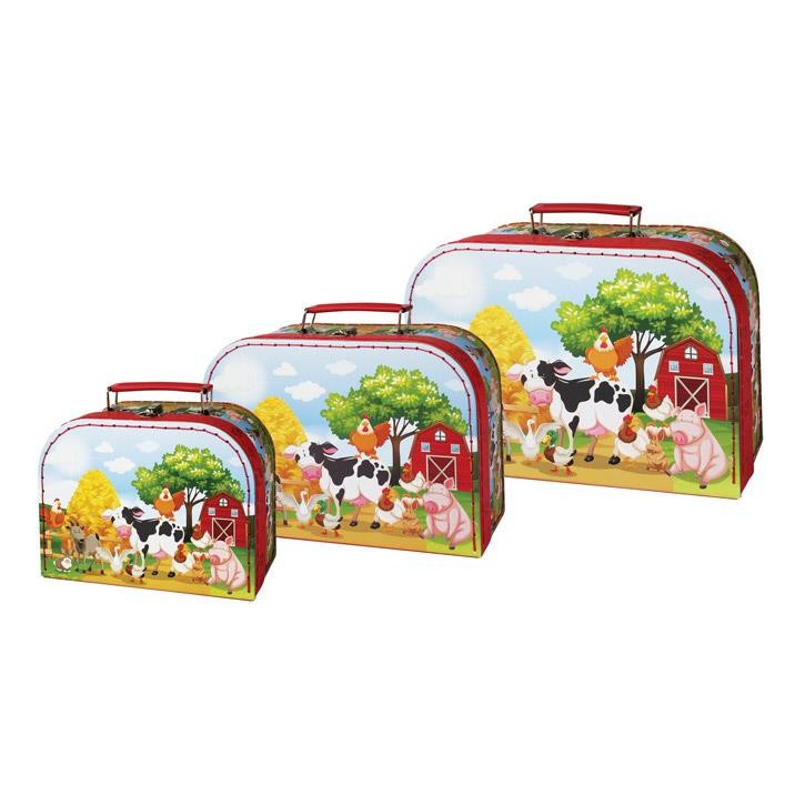 Aurich 85486 Kinder-Koffer Bauernhof klein  20x14cm