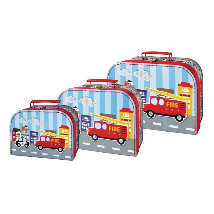 Aurich 85488 Kinder-Koffer Feuerwehr 29x19cm  Groß