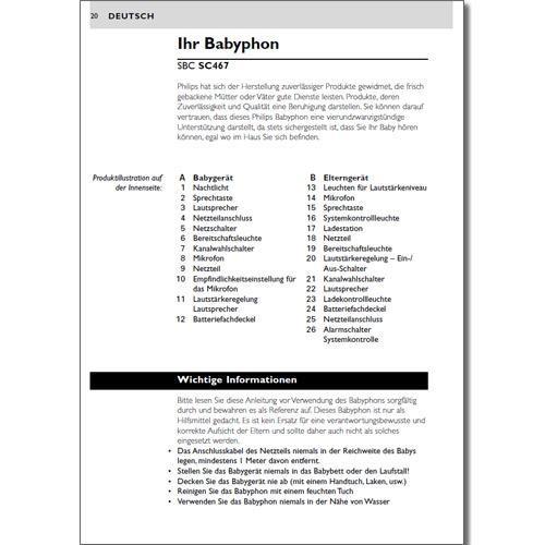 Benutzerhandbuch SBC SC467 - kostenloser Download