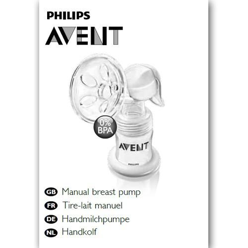 Benutzerhandbuch Handmilchpumpe - in gedruckter Form