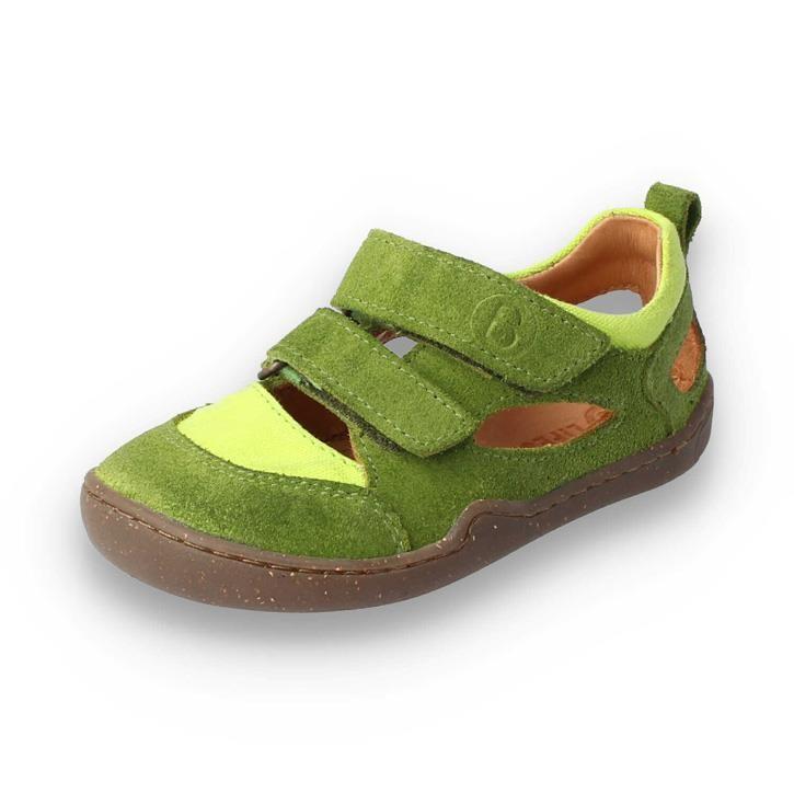 BLifestyle KAMMMOLCH grün Barfuss Sandale Klett Bioleder