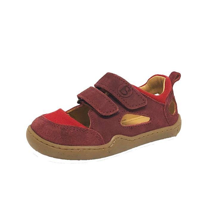 BLifestyle KAMMMOLCH  pink Barfuss Sandale weit Klett Bioleder