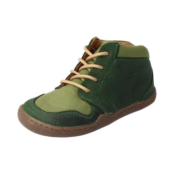 BLifestyle PANGOLIN grün mittel Bioleder gewachst/Textil oilskin Barfußschuh
