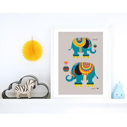 byGraziela Zirkus Elefant Kunstdruck - A3