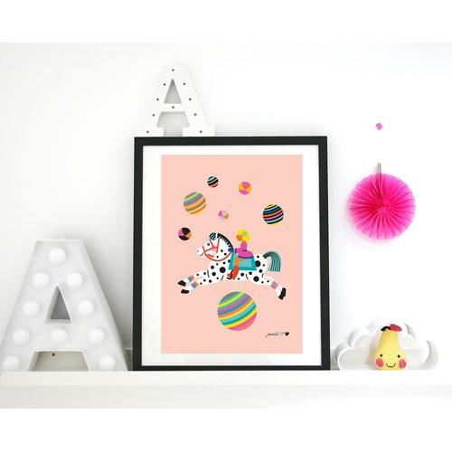 byGraziela Zirkus Pferd Kunstdruck - A3
