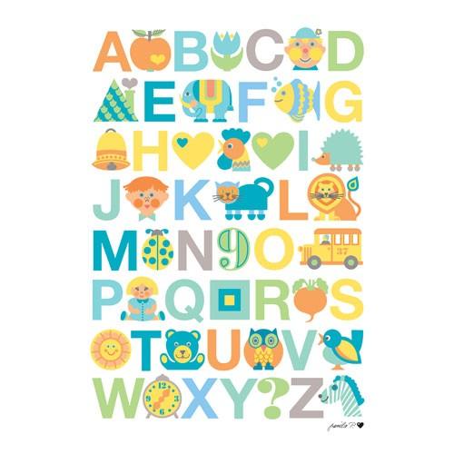 byGraziela Abc Poster Pastell - 50x70 cm