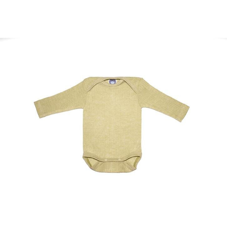 Cosilana Baby-Body 1/1 Arm grün uni 45% Baumwolle/35% Wolle/20%Seide