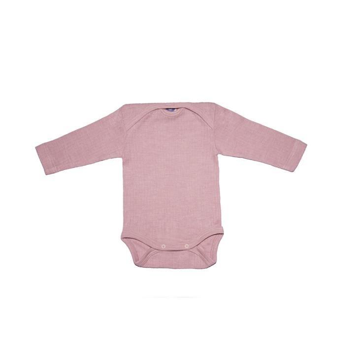 Cosilana Baby-Body 1/1 Arm pink meliert  45% Baumwolle/35% Wolle/20%Seide