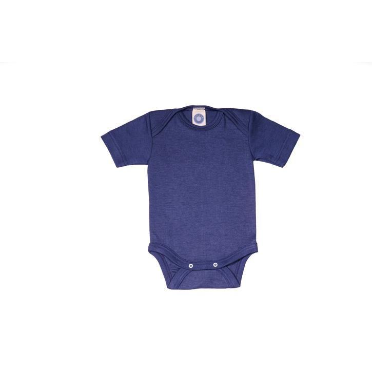 Cosilana Baby-Body 1/4 Arm marine uni 70% Merinoschurwolle / 30% Seide