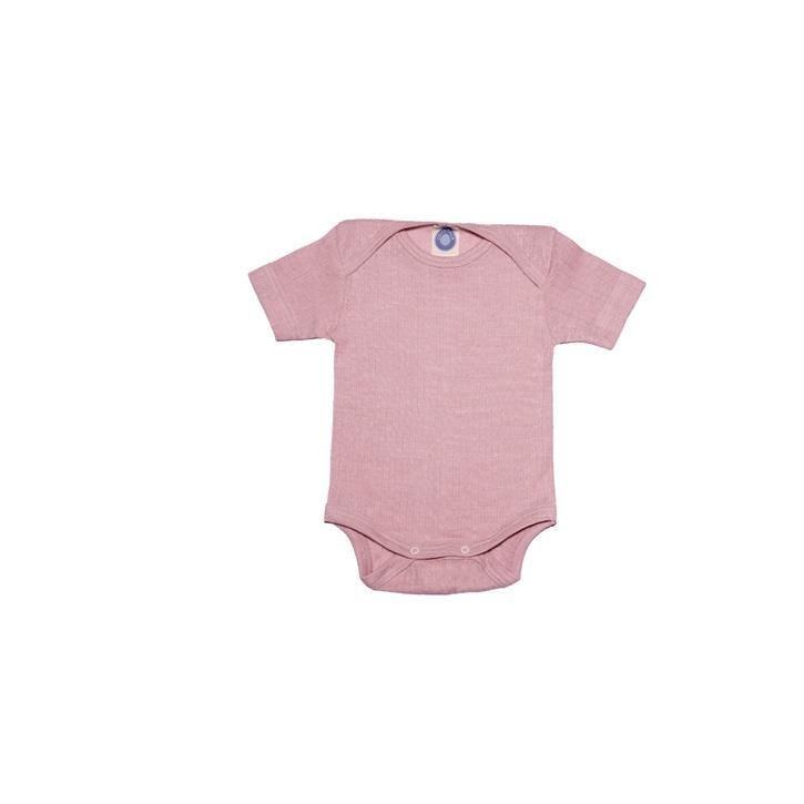 Cosilana Baby-Body 1/4 Arm pink meliert  45% Baumwolle/35% Wolle/20%Seide