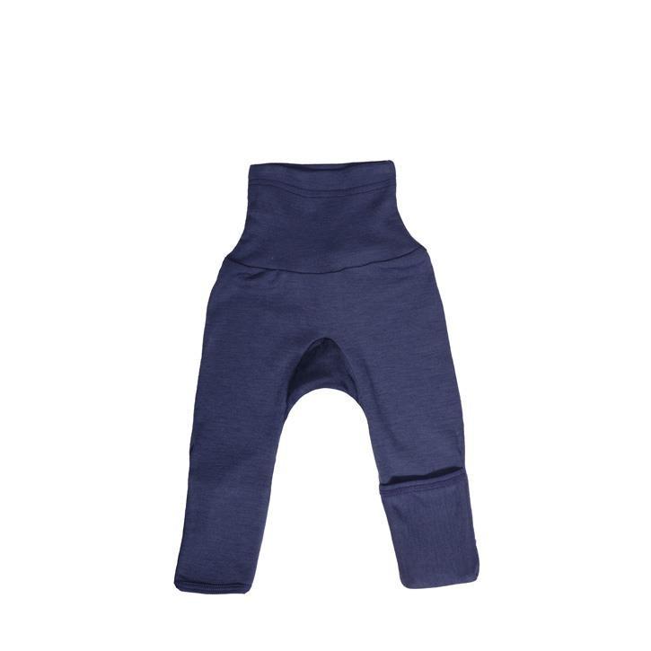 Cosilana Baby-Hose lg. mit Kratzschutz am Bein marine uni 70% Merinoschurwolle / 30% Seide