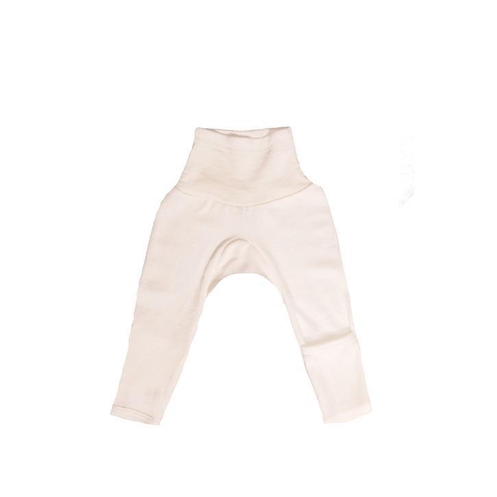 Cosilana Baby-Hose lg. mit Kratzschutz am Bein natur 70% Merinoschurwolle / 30% Seide