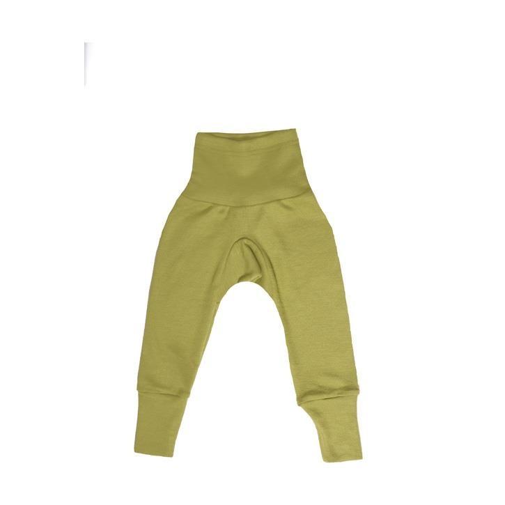Cosilana Baby-Hose mit BUND grün uni 70% Merinoschurwolle / 30% Seide